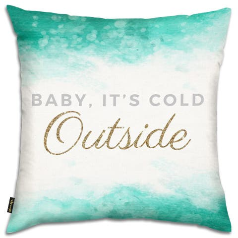 Oliver Gal 'Its So Cold' Decorative Throw Pillow