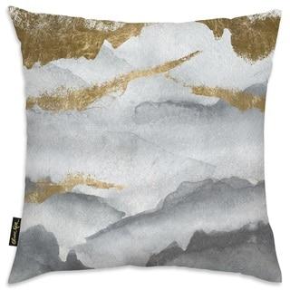 Oliver Gal 'Tibet Mountains' Decorative Throw Pillow