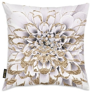 Oliver Gal 'Floralia Blanc' Decorative Throw Pillow