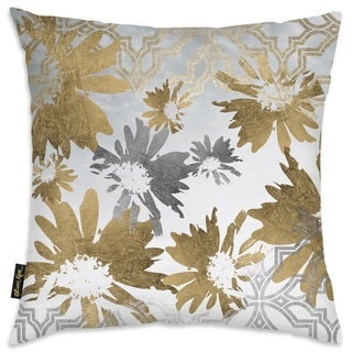 Oliver Gal 'Golden Garden' Decorative Throw Pillow