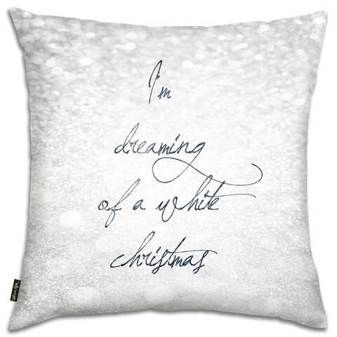 Oliver Gal 'White Christmas'DecorativeThrow Pillow
