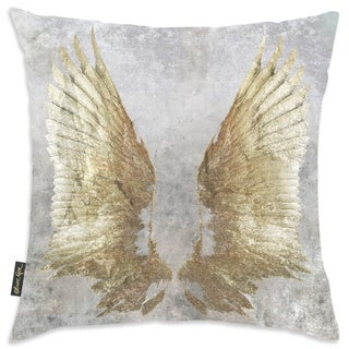 Oliver Gal 'My Golden Wings' Decorative Throw Pillow