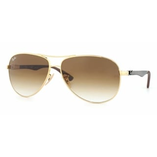 Ray-Ban RB8313 001/51 Unisex Gold/Grey Frame Light Brown Gradient Lens Sunglasses