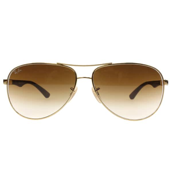 a70487f4b82 ... Ray-Ban RB8313 001 51 Unisex Gold Grey Frame Light Brown Gradient Lens  ...