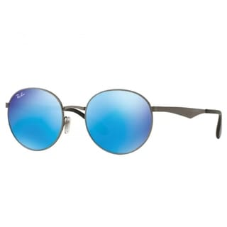 Ray-Ban RB3537 004/55 Men's Gunmetal Frame Blue Mirror Lens Sunglasses