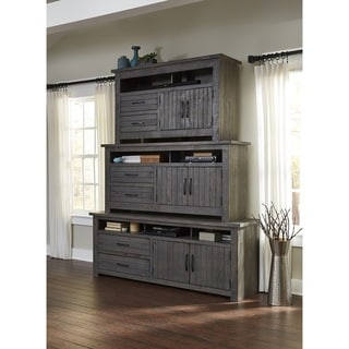 Progressive Nest TV Console w/ Distressed Grey Finish