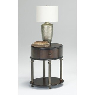 Gracewood Hollow Lubonja Oval End Table With Power Pack