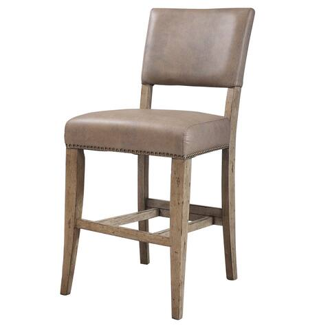 Hillsdale Furniture Charleston Parson Desert Tan Metal/Wood Non-Swivel Stool (Set of 2)