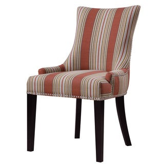 Earth Red Stripe Upholstered  Fabric Dining Chair