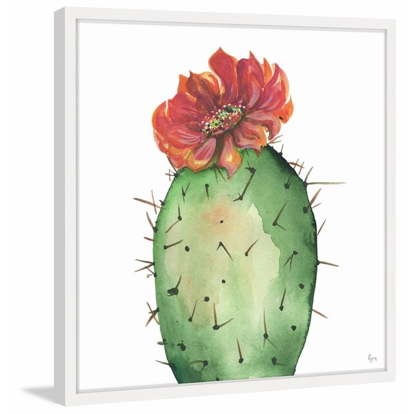 Cactus Rouge' Framed Painting Print