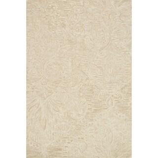 Hand-hooked Opal Sand Rug (5' x 7'6)