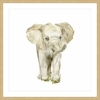 Baby Elephant II' Framed Painting Print