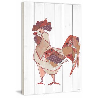 Marmont Hill - Handmade El Gallo Painting Print on White Wood