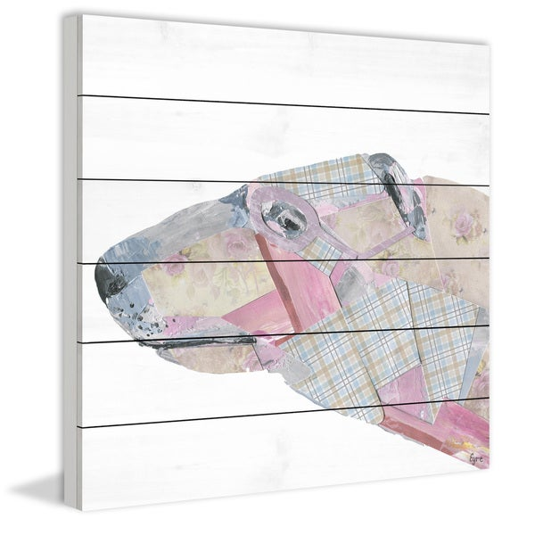 Marmont Hill - Handmade El Perro Painting Print on White Wood