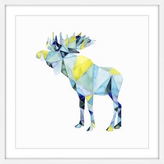 Geo Animal III' Framed Painting Print