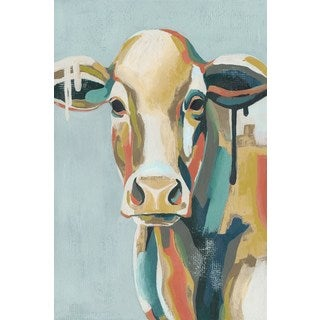 Colorful Cows I' Painting Print on Wrapped Canvas