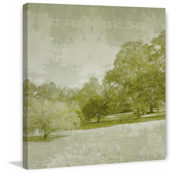 Beryl Landscape I' Painting Print on Wrapped Canvas - Green