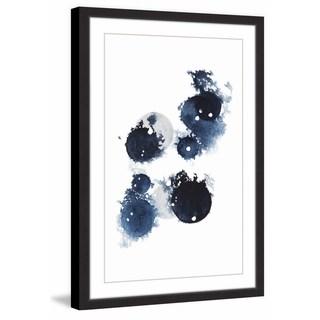 Blue Galaxy III' Framed Painting Print