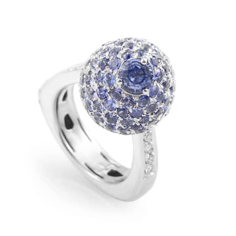 Italian Collection 18K White Gold Sapphire & Diamond Ring