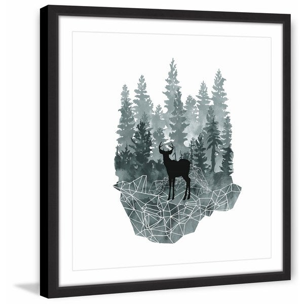 Faceted Animals I' Framed Painting Print