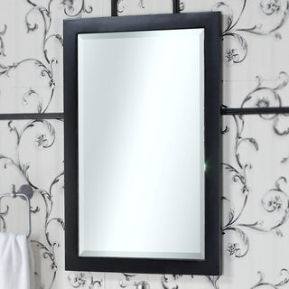 """Infurniture Contemporary Style 22""""W x 34""""H Bevel Edge Wall Mirror"""