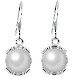 Orchid Jewelry Sterling Silver 8 Carat Cultured Pearl Earrings
