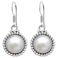 Orchid Jewelry 4 1/3 Carat Cultured Pearl Sterling Silver Drop Earrings