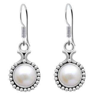 Orchid Jewelry 4 1/3 Carat Cultured Pearl Sterling Silver Dangle Earrings