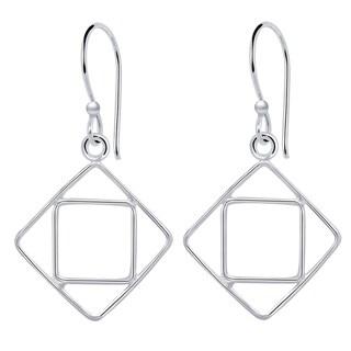 Essence Jewelry Sterling Silver Dangle Geometric Earrings