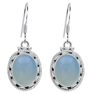 Orchid Jewelry 7 3/5 Carat Aquamarine 925 Sterling Silver Earrings for Womens