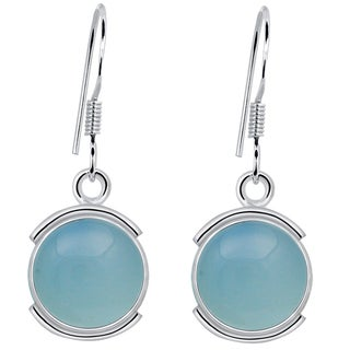 Orchid Jewelry 925 Sterling Silver Womens Aquamarine Earrings