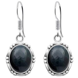 Orchid Jewelry 925 Sterling Silver 7 3/5 Carat Bloodstone Earrings for Woemen's