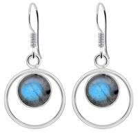 Orchid Jewelry 925 Sterling Silver 4 1/5 Carat Labradorite Earrings for Girls