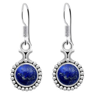 Orchid Jewelry 925 Sterling Silver Womens Lapis Earrings