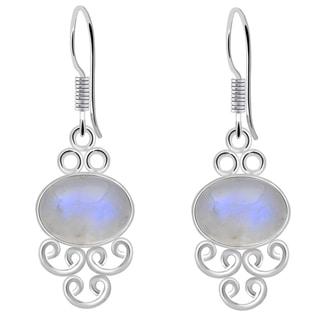 Orchid Jewelry 8 Carat Rainbow 925 Sterling Silver Earrings