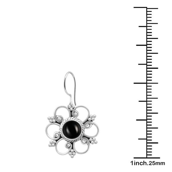 1 Ct Genuine Black Onyx 6mm Heart Bezel Bracelet .925 Sterling Silver