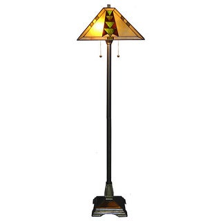 Delicieux Tiffany Style Mission Floor Lamp