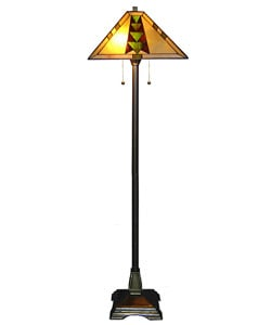 Tiffany style mission floor lamp free shipping today for Overstock tiffany floor lamp