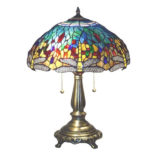 Tiffany Style Yellow Dragonfly Table Lamp Free Shipping