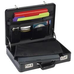 Solo Leather Expandable 16-inch Laptop Attache Briefcase