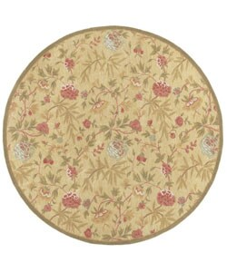 Hand-tufted Transitional Wool Rug (6' Round)