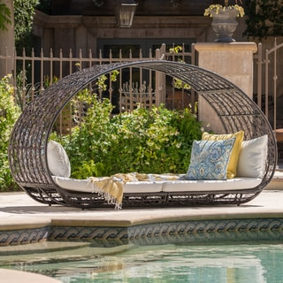 Link to Boca Grande Outdoor Daybed with Cushions by Christopher Knight Home Similar Items in Hammocks & Swings