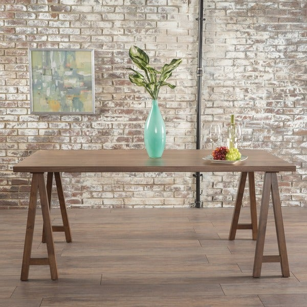 Shop Sabine Rectangle Wood Farmhouse Dining Table By