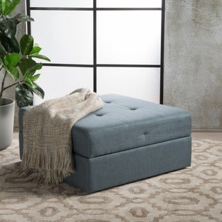 Burlington Square Fabric Storage Ottoman Bench by Christopher Knight Home