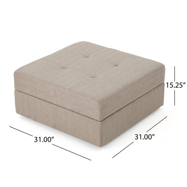 Burlington Square Fabric Storage Ottoman Bench By Christopher Knight Home    Free Shipping Today   Overstock.com   22264790
