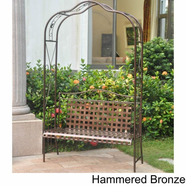 Cool Shop International Caravan Mandalay Iron Arbor Bench Free Squirreltailoven Fun Painted Chair Ideas Images Squirreltailovenorg