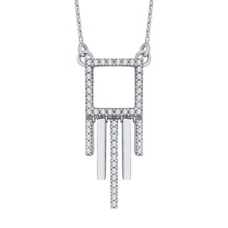 10K White Gold 1/3ct TDW Diamond Fashion Pendant (G-H, I2-I3)