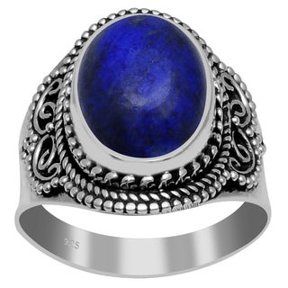 Orchid Jewelry 925 Sterling Silver 7 Carat Lapis Ring