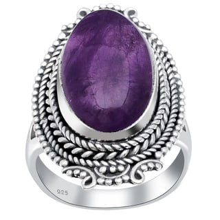 Orchid Jewelry 11 Carat Amethyst 925 Sterling Silver Ring