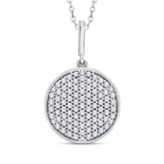 10K White Gold 1/2ct TDW Diamond Circle Pendant (G-H, I2-I3)